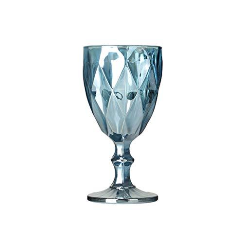 GLADMIN Gafas Colorido Vino Rojo Copa de Cristal Vidrio Creativo Vintage Jugo de Vidrio Vidrio Vidrio de Vidrio Copas de Vino (Capacity : 400ml, Color : 310ml 3)