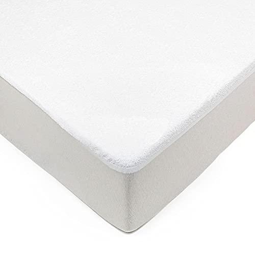 Unishop Protector de Colchón Impermeable y Transpirable de Microfibra, Funda para colchón Antiácaros y de Máxima Absorbencia (150)