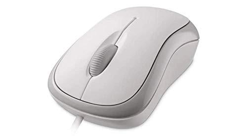 Microsoft Basic Optical Mouse (Maus, kabelgebunden, für Rechts- und Linkshänder geeignet) weiß