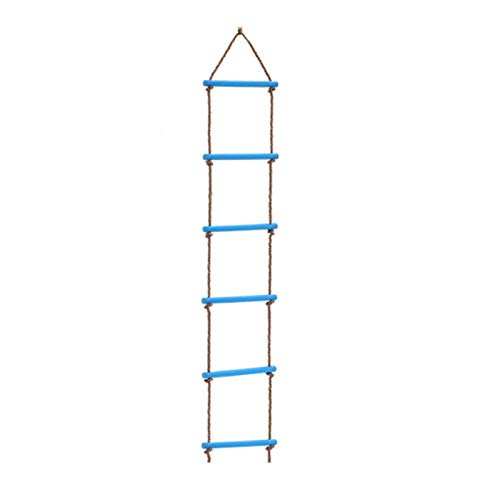 YANG WU Children's Wooden Rope Ladder, Compact Portable Child Safety Rope Ladder, Suitable for Climbing Frame, Tree House, Study and Play House 2pcs