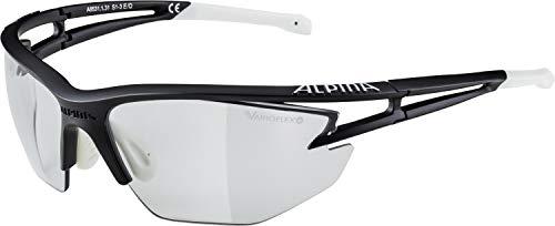 ALPINA EYE-5 HR VL+ Sportbrille, Unisex– Erwachsene, black matt-white, one size