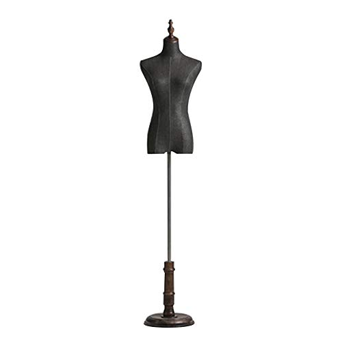 Venster Antiek Kleur Mannequin Props Halflange Bruidsjurk Model Display Stand met Grote Disc Base - Vrouwelijk