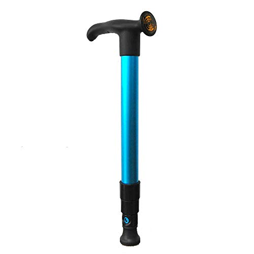 Pocket Cane  Ultra Compact Walking Cane 1 Second Extend to presets Length  Collapsible Lightweight Adjustable Portable Hand Walking Stick  Best Mobility Aid  Sleek  Electric Blue