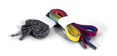 Rio Roller Laces Schnürsenkel Unisex Erwachsene Unisex Erwachsene, Unisex, RIO132_155 cm_Multicolor (Rainbow), Multicolour (Rainbow), 155 cm
