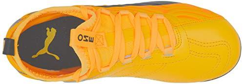 PUMA Unisex Kids PUMA ONE 20.3 MG Jr Football boots, ULTRA YELLOW-Puma Black-Orange Alert, 1 UK