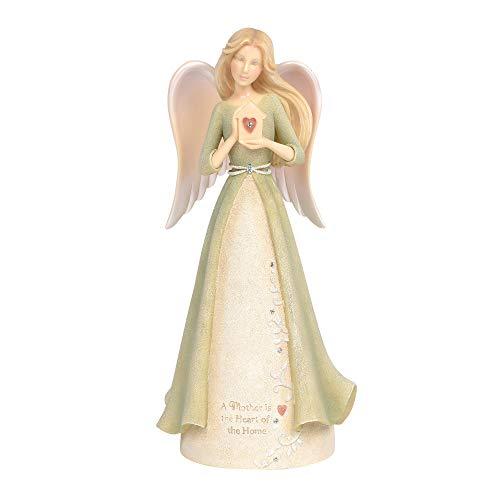 Enesco Foundations Mother Heart Angel Figurine, 7.05 Inch, Multicolor