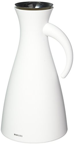 Eva Solo  Isolierkanne, 1 L, Edelstahl, matt weiß, 15,5 x 15,5 x 29 cm
