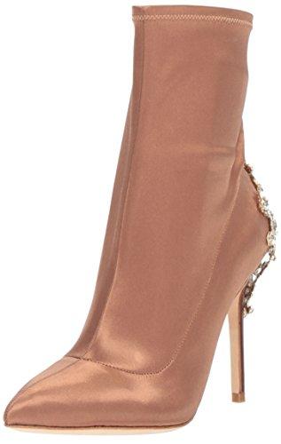 Badgley Mischka Women's Meg Ankle Boot, Dark Nude, 5.5 M US