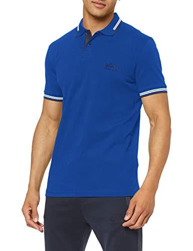 BOSS Herren Paul Curved Polo Shirt, Open Blue (495), XL EU