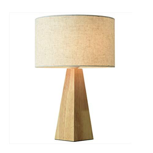 WYBFZTT-188 Desk Lamp, Comodino Lampada in Legno Comodino Lampada con Paralume in Tessuto for la Camera da Letto, Salotto, Ufficio, Camera dei Bambini, Sala Studio, Dormitorio, Tavolino