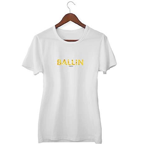 KLIMASALES Ballin Goud Parijs Grappig Merk Logo_KK020421 Shirt T-shirt voor Vrouwen - Wit