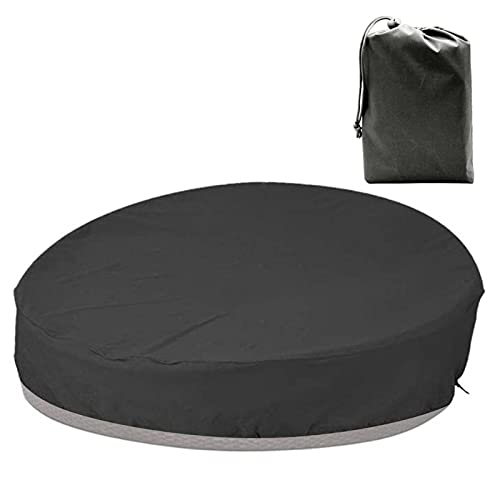 gormyel Patio Daybed Cover Redonda impermeable ratán Daybed Cover antipolvo 210D Oxford tela de jardín muebles cubierta para ratán Day Bed Sofa con bolsa de almacenamiento