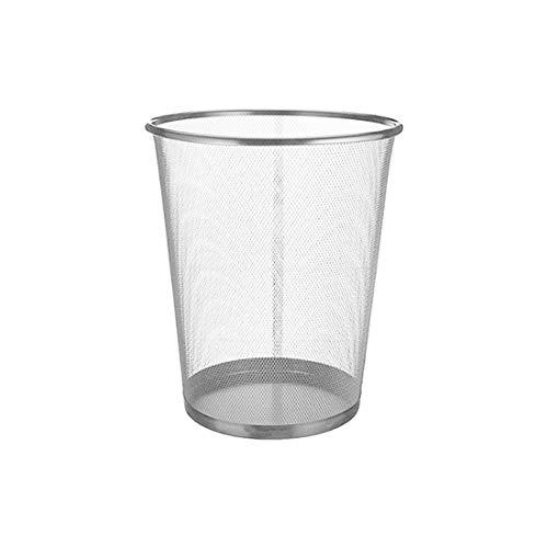Grauer Mülleimer | für die Küche, das Büro oder das Zimmer | Metalldrähte | EUROXANTY® | 24 x 27 cm | 10 L