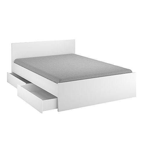 INFINIKIT Haven Bett, 140 x 190 cm, mit Schubladen, Weiß
