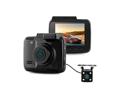 Caméra de tableau de bord pour voiture à double objectif 4K, enregistreur de vision nocturne, avant et arrière à double objectif HD grand angle, WIFI