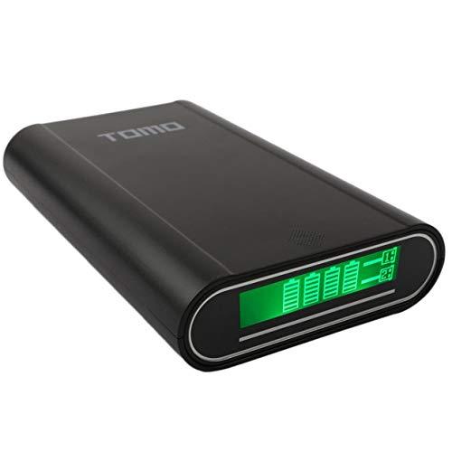 MXECO TOMO Intelligent Portable 18650 Li-Ionen-Akku DIY Mobile Power Bank Smart Ladegerät Dual USB LCD-Bildschirm (schwarz)