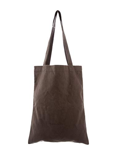 "RICK OWENS Large Cloth Unisex Shopper/Tote Bag (18.25""x14.5"") Dark Dust"