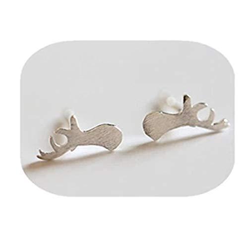 yichahu Pendiente de oreja simple de moda con diseño de cuernos de mujer