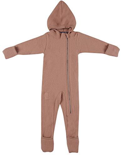 DILLING Overall für Babys aus Wollfleece - 100% Merinowolle Puder 56