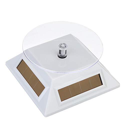 Suporte de relógio para exibição Outgeek com suporte giratório solar multiuso para suporte de relógio, suporte de joias, suporte para exibição de pulseiras, Branco, One Size, 1