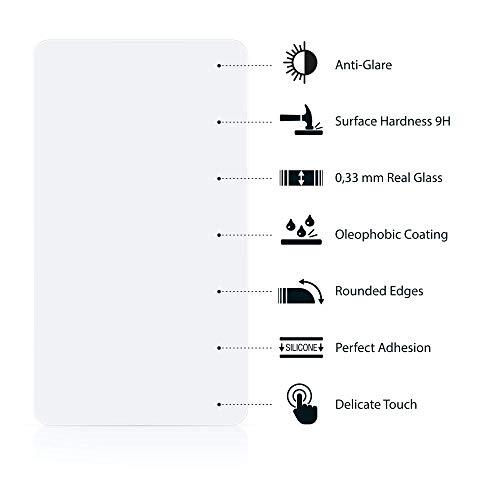 Panzerglas Matt kompatibel mit Honor 7 – Entspiegelte Echtglas Panzerfolie Panzerglasfolie Hartglas Schutzfolie Displayschutzfolie - 5