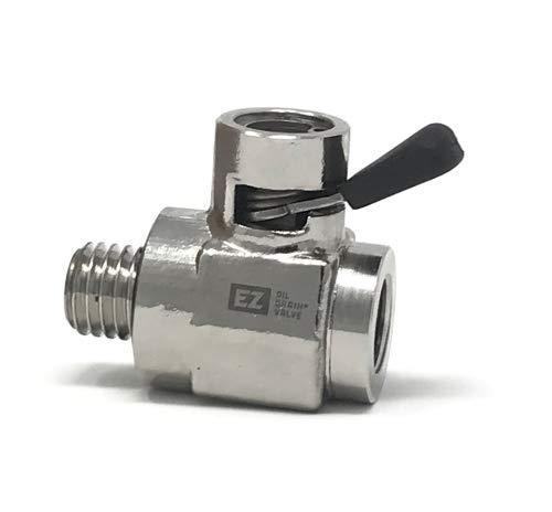 H-001 Combo EZ-109 EZ Oil Drain Valve with removable Straight Hose End 12mm-1.5