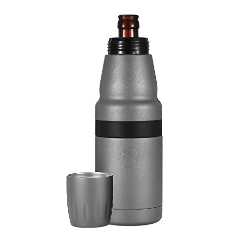 LionRox Chillax12 Beer Bottle and Can Insulator | Fully Vacuum Insulated Double Walled Stainless Steel Beer Bottle and Can Cooler | Beer Bottle and Can Keeper