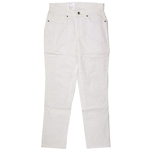 Mac, Melanie 7/8 Chic, Damen 7/8 Damen Jeans Hose Stretchgabardine Cremeweiss D 34 L 28 Inch 26 [17089]