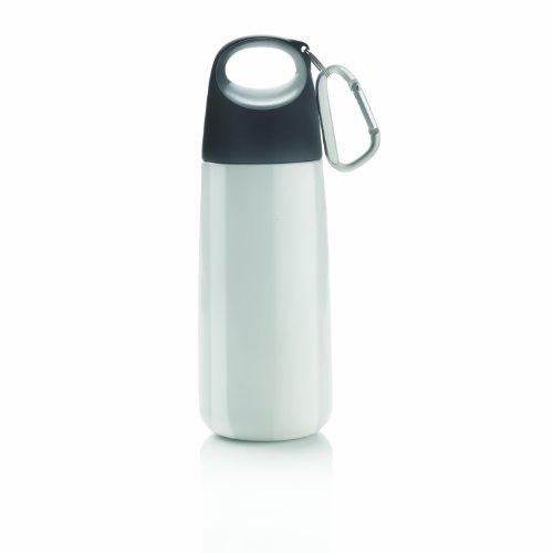 Bouteille avec mousqueton Bopp Mini, blanc