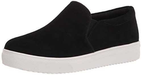 Blondo womens Slip-on Sneaker, Black Suede, 10 US