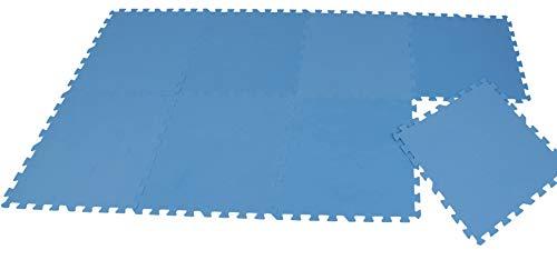 Pool Unterlegmatte - 8 Stück à 50x50cm (2m²) - Bodenschutzmatte für Pool und Planschbecken - schütz den Poolboden vor Beschädigungen