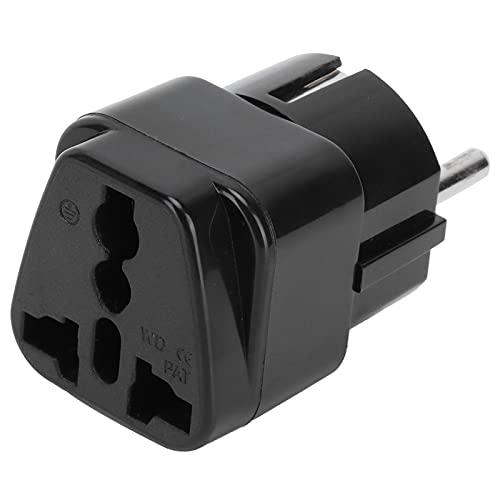 01 Adaptador de Toma de Corriente, 10A Conveniente para Llevar Europa Adaptador de Cargador Ligero Compacto Mini para teléfonos Inteligentes Altavoces Power Banks