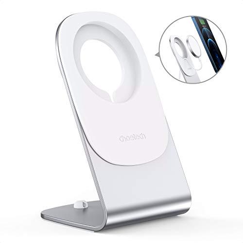 Soporte para Cargador MagSafe, Solo para Cargador Magsafe Original de A-pple, CHOETECH de Aluminio Magsafe, Soporte de Cargador Compatible con iPhone 12/Pro/Mini/MAX, No Incluye Cargador MagSafe