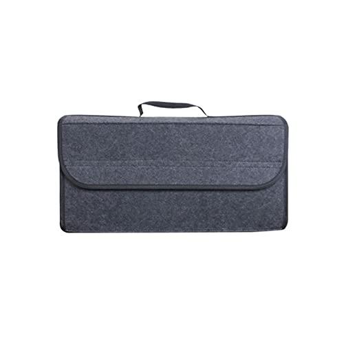 Korean pine Organizador del tronco de automóviles Bolsa de caja de almacenamiento Bolsa de fieltro suave plegable Auto coche Organizador de arranque Organizador de herramientas de viaje Cucheas de con