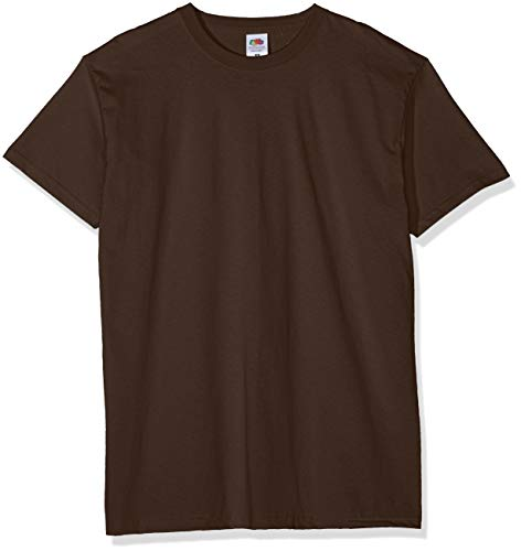 Fruit of the Loom Valueweight 5 Pack Camiseta, Marrón (Chocolate Cq), Medium (Pack de 5) para Hombre