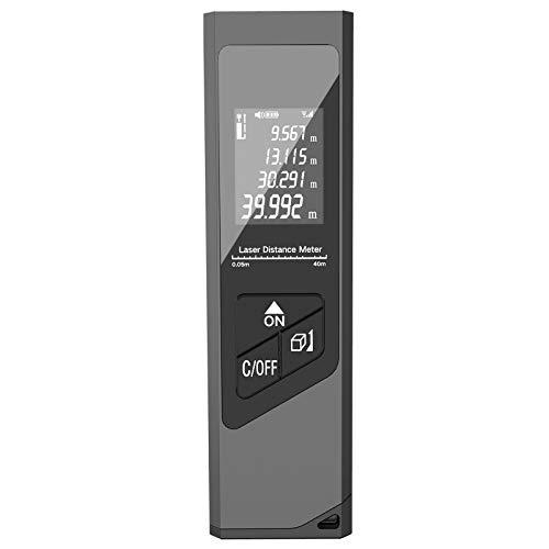 Takefuns Medidor de rango Sofisticado Caja de Metal de la Herramienta de Rango Digital LCD Ahorro de Energía Indicador de Rango de Apagado Automático