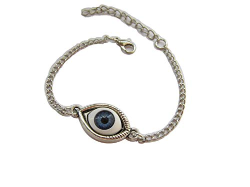 Anklet Ancient Silver Eye, Protection, Evil Eye, Yoga,Zen Jewelry (1)