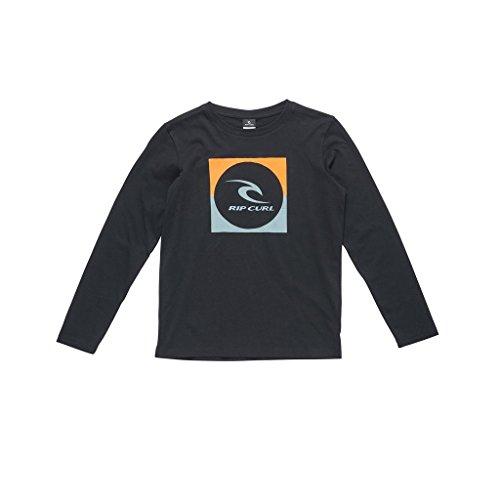 RIP CURL Boys 'Cuadrado Logo Camiseta de Manga Larga, Niños, Color Negro,...