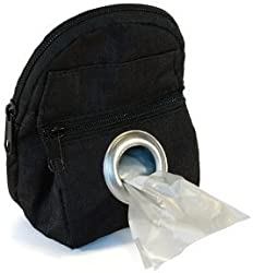 POOCH POUCH - Black Backpack Dispenser Waste Pick-Up Bags (20ea) by lola bean