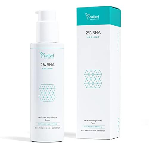 2 % BHA Peeling - Gegen Unreinheiten & abgestorbene Hautzellen - Salicylsäure Peeling für alle Hauttypen - Mit Grüntee-Extrakt - Chemisches Peeling für das Gesicht gegen unreine...