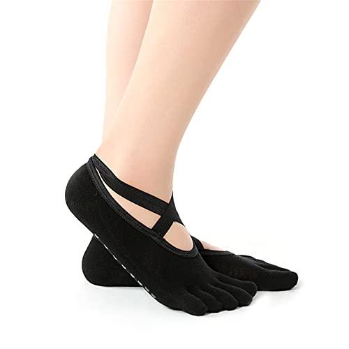 surfsexy Calcetines de yoga antideslizantes para mujer, envueltos y sin dedos, para ballet, pilates, barre, danza descalzo