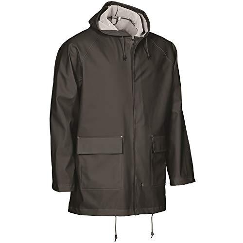 Elka Rainwear-PU/PVC-Regenjacke-Elements-306600-schwarz-EN ISO 343 Kl.3-mit Wetterschutzleiste Größe XXL