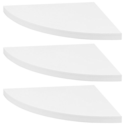 Hartleys - Schwebende Eckregale - 3er-Set - weiß