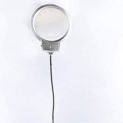YUQIYU Lupa de Escritorio con luz LED 10 Veces 20 Veces Anciano Leyendo