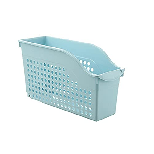 Qagazine Caja de almacenamiento de gabinete con rueda portátil de plástico tejido de cocina, nevera cesta de almacenamiento de escritorio para cocina, baño y gabinete