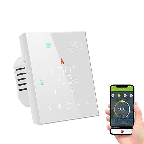 Decdeal - Termostato WiFi para calefacción eléctrica 16 A, termostato programable, control por voz, compatible con Amazon Echo Google Home Alexa, 5A, 95-240 V