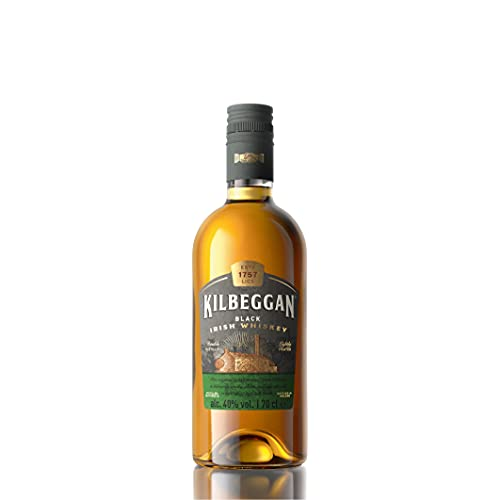 Kilbeggan Black Traditional Irish Whiskey, mit leichtem Torf-Anteil, 40% Vol, 1 x 0,7l