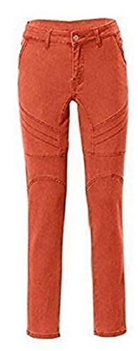 RICK CARDONA Jeans Damen Röhrenjeans Orange Gr. 36