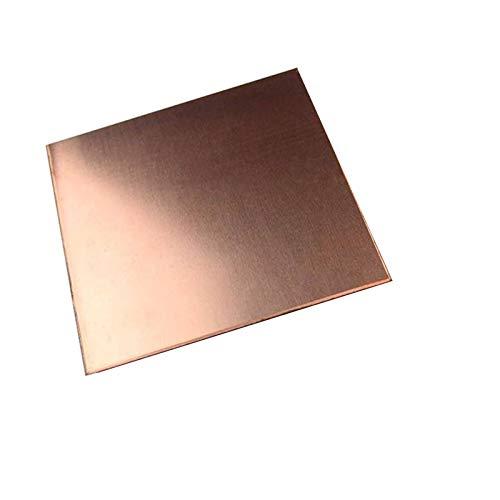 F-MINGNIAN-TOOL, FMN-Tape, Hoja de 1pc DIY Material Hecho a Mano la Placa de Cobre de Cobre Puro de 99,9% CU Material Metal 100 * 100mm (tamaño : 100x100x3.0mm)