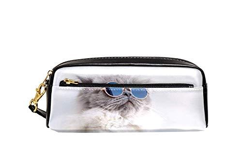 Bennigiry Katze in Sonnenbrille Astuccio per matite di große Kapazität borsa per bamini, Student Borsa per penne, per scuola di viaggio, Piccola Borsa Cosmetica